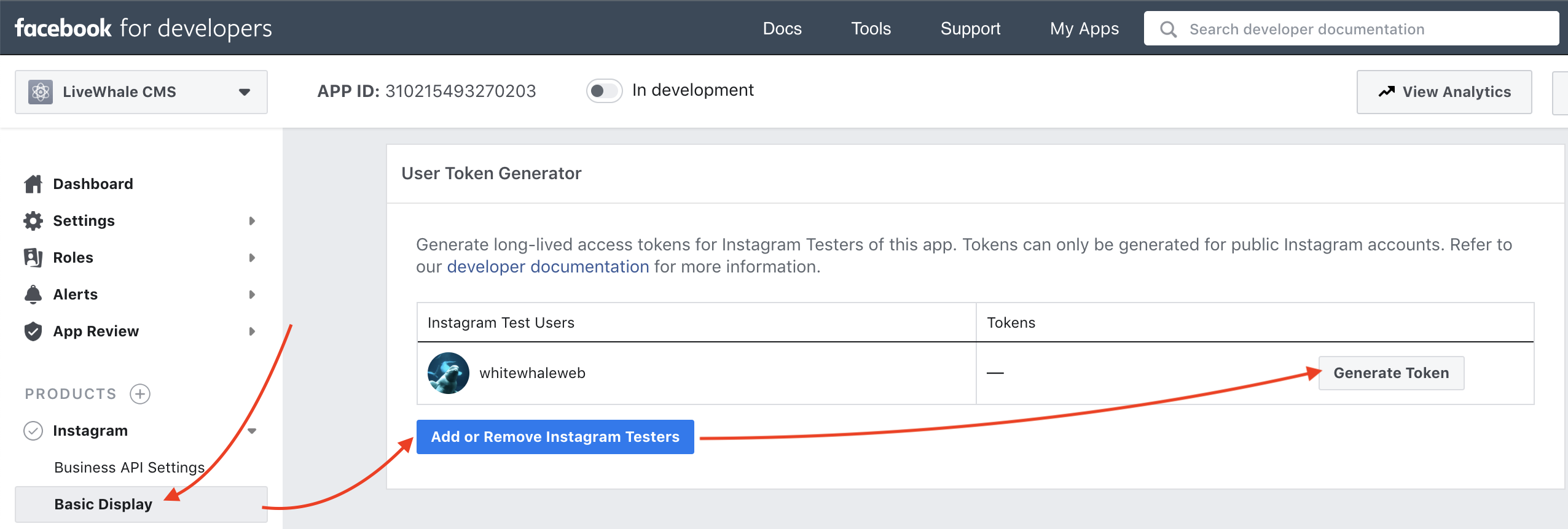 Instagram User Token Generator