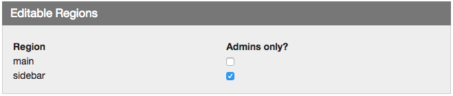 Admin only option in Edit Page Details